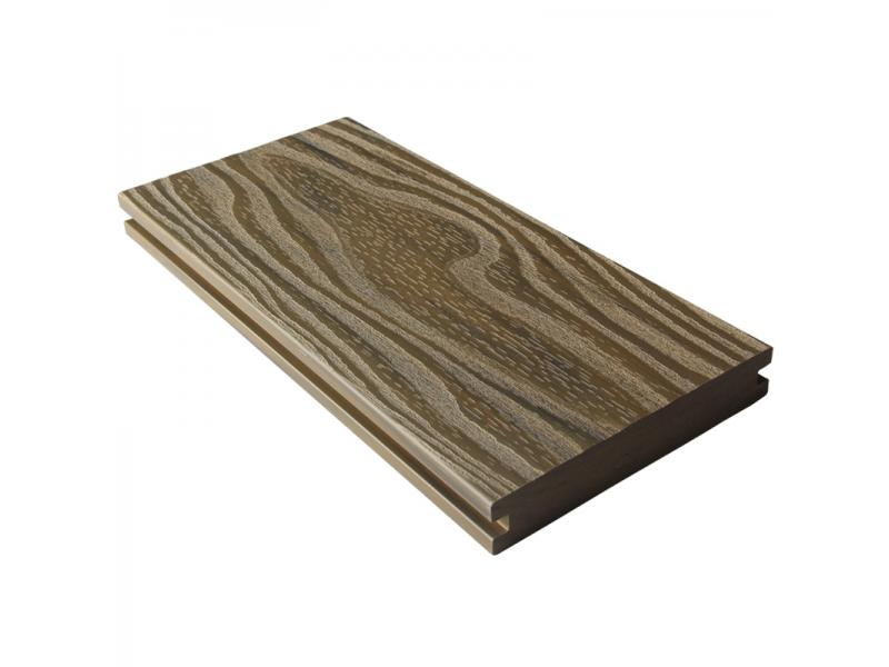 Solid Water-Proof Wood Grain Composite Decking Board with Easy Installation