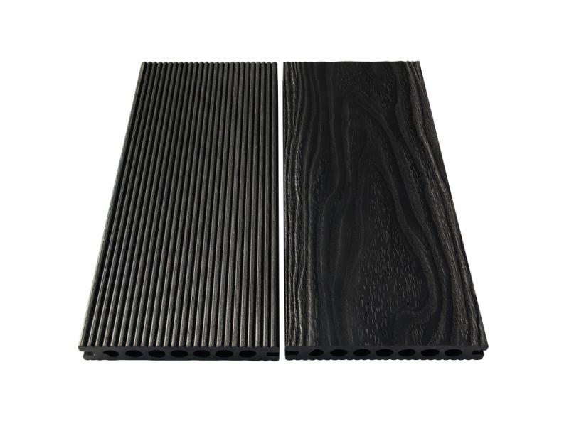 TS-03 Hollow Wood Grain Composite Decking Board