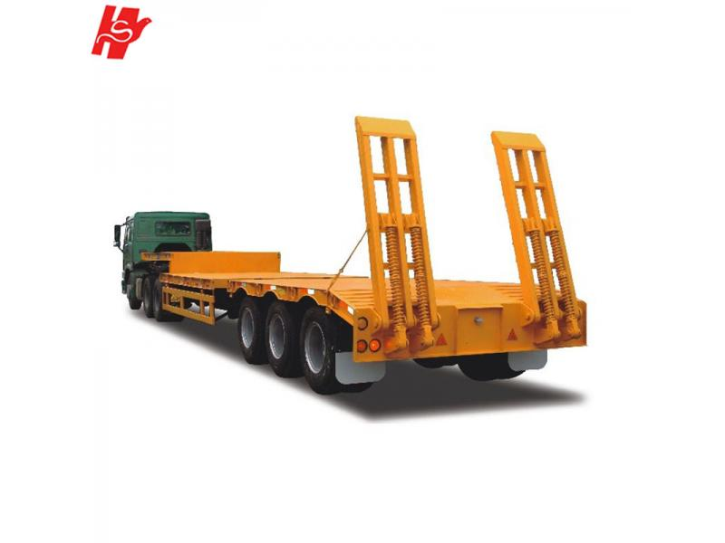3 axles low bed semi trailer lowboy trailer for sale