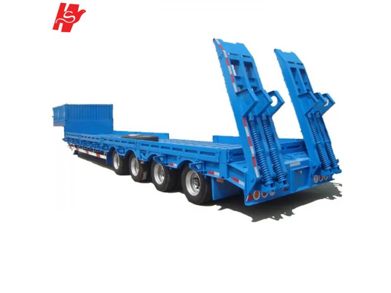 Factory price 4 Axles Lowbed Semi Truck 100Tons 3 Axles Lowbed Trailers for sale