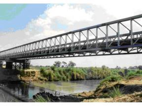 Company patent D-bridge,Portable Stability Bailey Truss Bridge