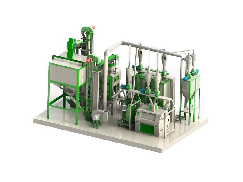 corn mill milling machine used in corn mill plant