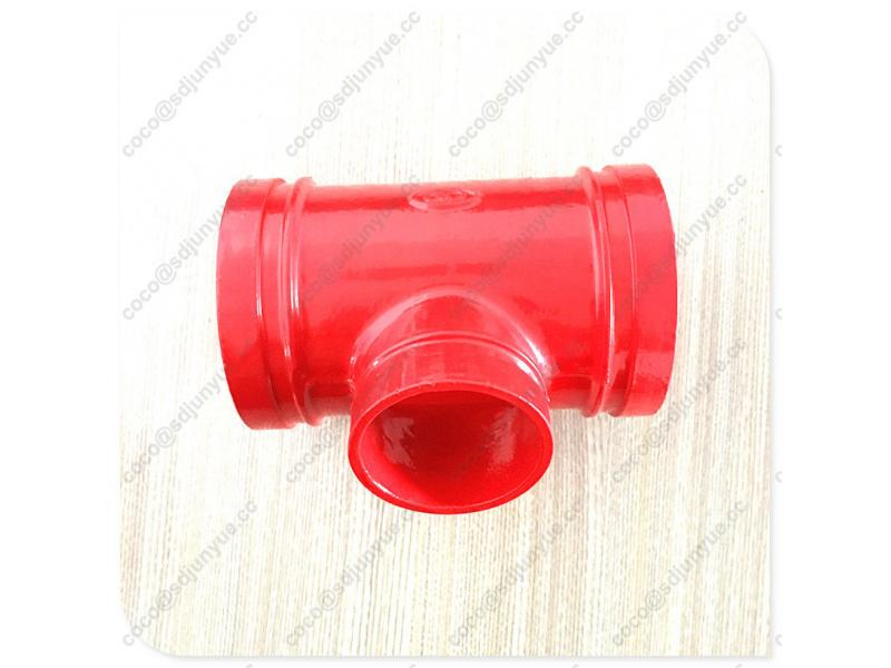 Ductile Iron Cast Pipe Fittings Threaded Reducing Tee
