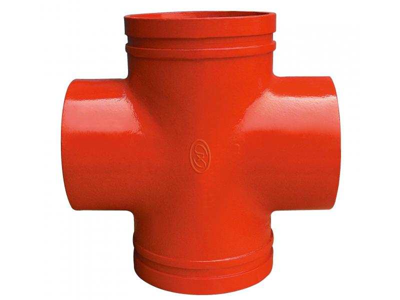 "FM/UL Approved 2"" Ductile Iron Groove Equal Cross"