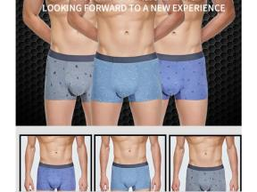 Breathable boxers with hips raised, mid-waist and legs