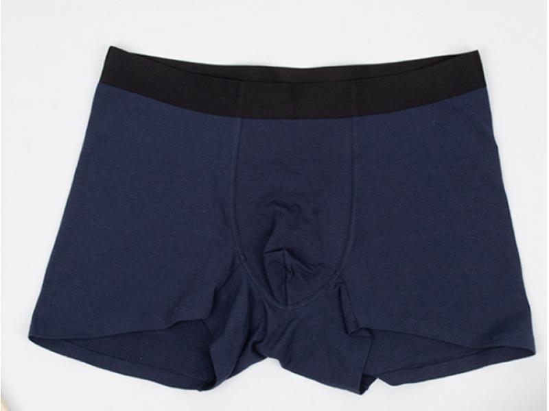 Men's blue and black boxer underwear cotton comfortable high breathable underpants four seasons gen