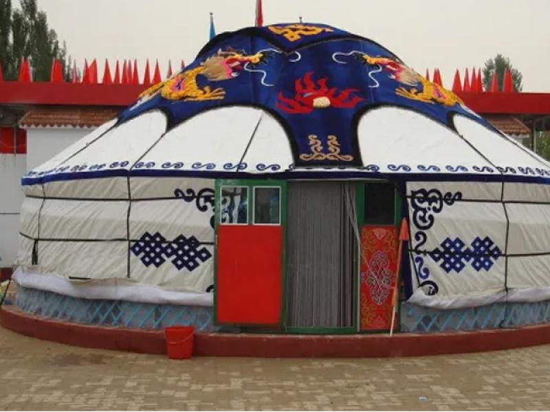 Mongolian Large Wedding Cloth Yurt
