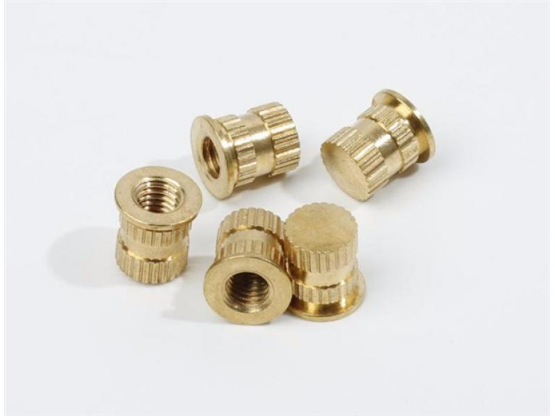 Knurled copper nut