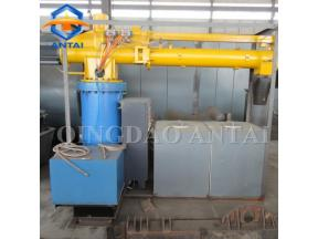 Single arm resin sand mixer for foundry resin sand reclamation line