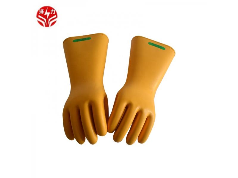 High quality best selling 35kV electrical rubber insulating gloves