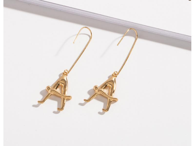 Cross-border European and American fashion exaggerated geometric body creative earrings temperament