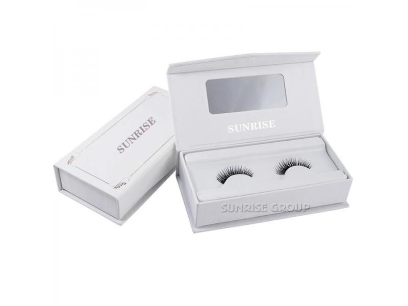 Custom Cardboard Book Shaped Gift Packaging Eyelash Display Box