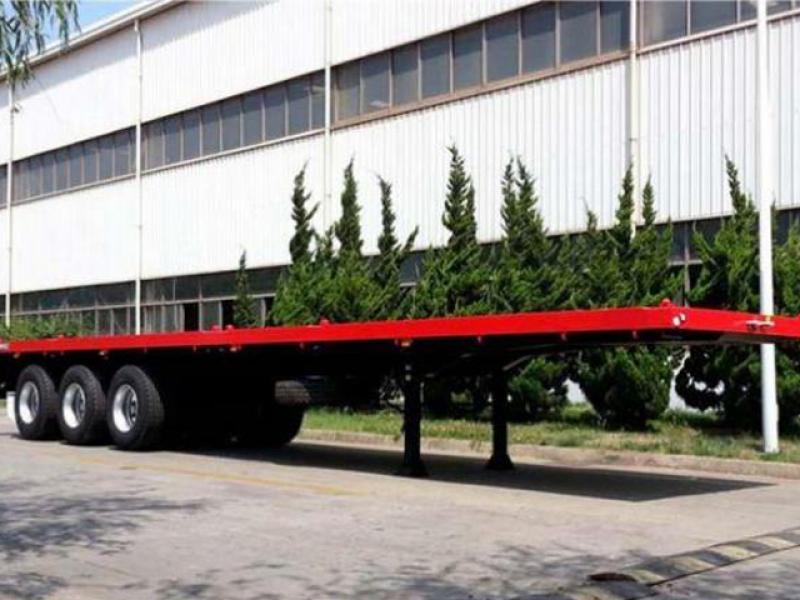 Tri-Axle 40ft Flatbed Trailer 40 Tons