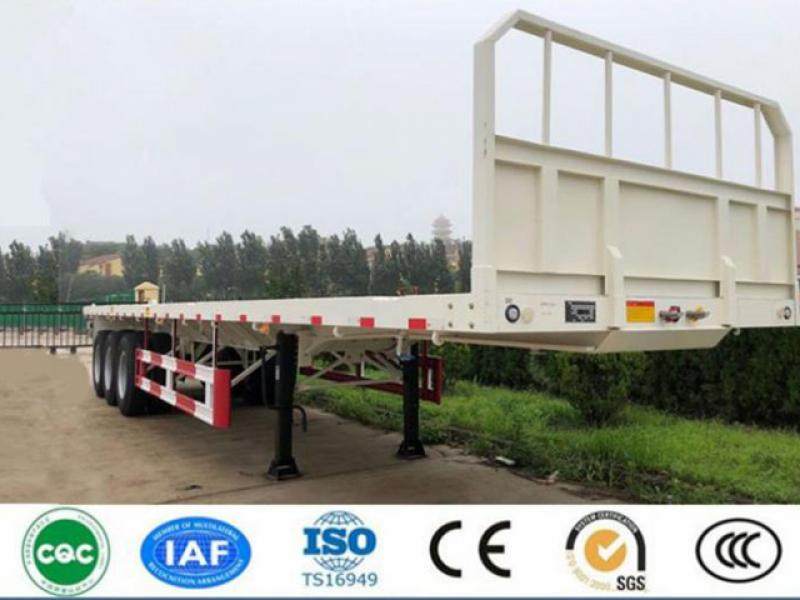 CIMC 40ft Flatbed Semi Trailer With Front Wall