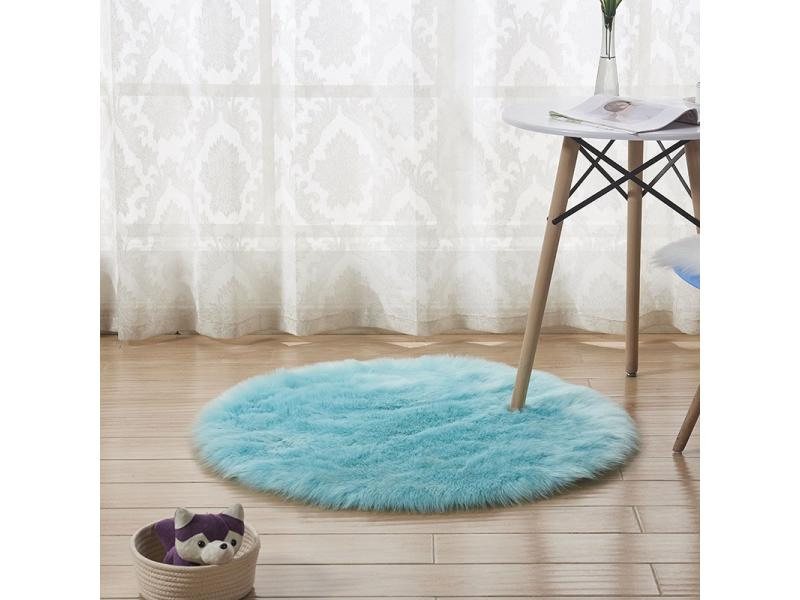 Office carpet imitation wool acrylic blanket round household white carpet