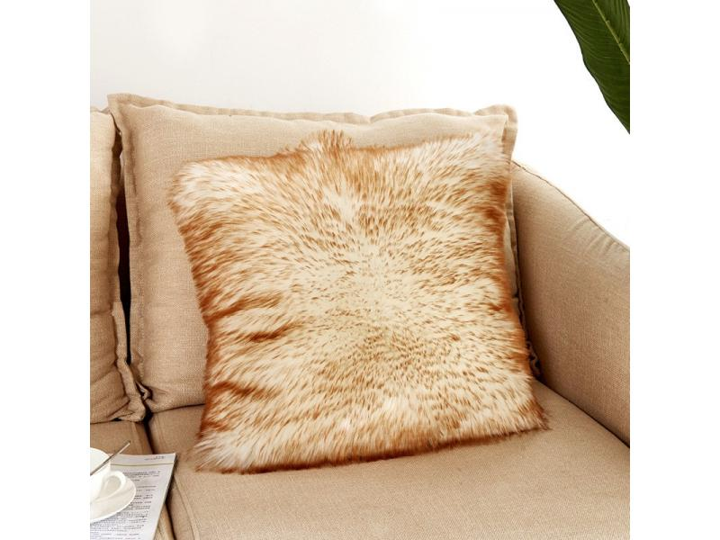 Modern and contracted pure white plush pillow family use pillow case