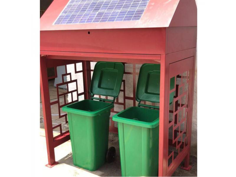 Garbage sorting booth