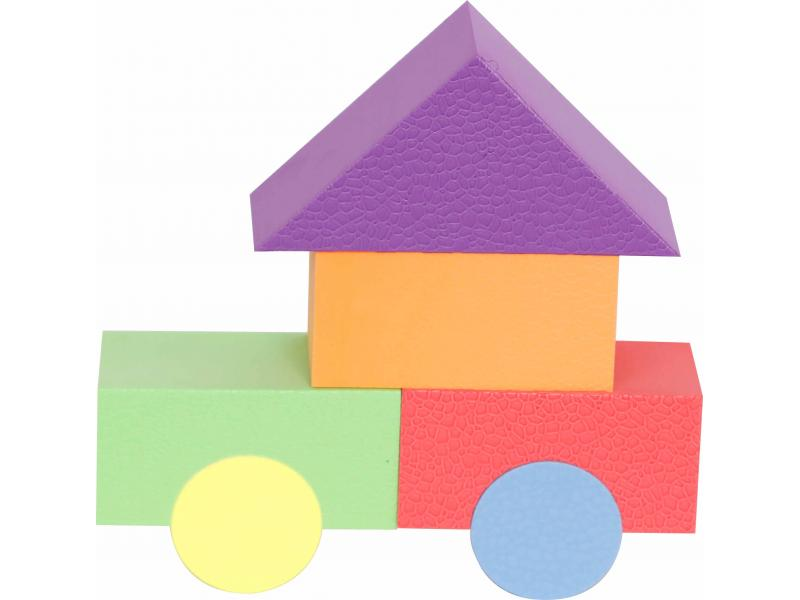 Preschool Learning Toy Recycled Plastic Building Blocks, Christmas Gift Set