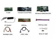 19 inch TFT LCD display module, high brightness industrial screen panel