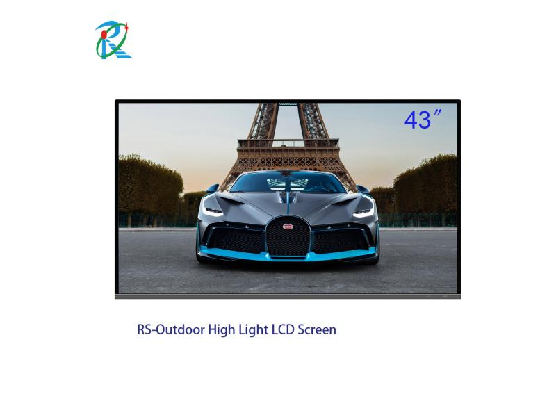 High Quality 43 inch standalone LCD digital display panel for advertising IR touch outdoor display S