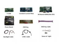"""65"""" 2500 nits high brightness sunlight readable LCD panel open frame lcd for commercial display"""