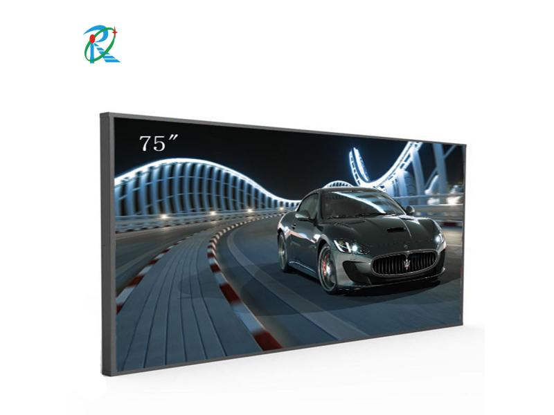Super bright 75inch 5000nits DLED commercial lcd advertising display screen