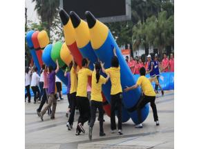 Inflatable Games Props Hercules Pencil Net Drills Dragon Jump Outdoor Games School Development Equip