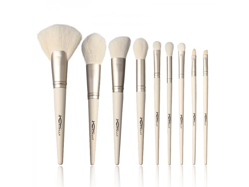 Wholesale Professional Makeup Brushes 9pcs Synthetic Hair Foundation Powder Blush Red Handle Make Up