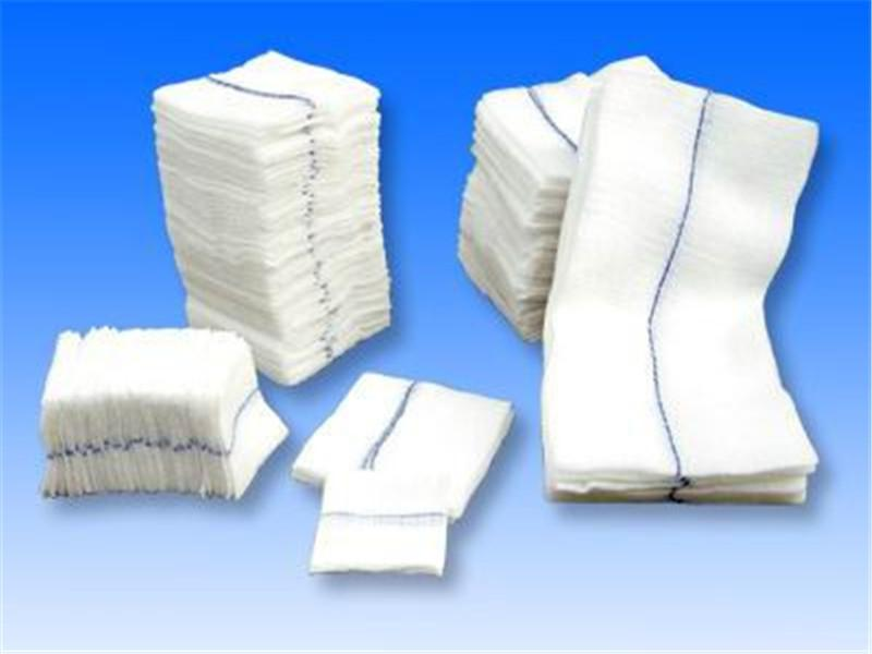 Medical absorbent gauze pad