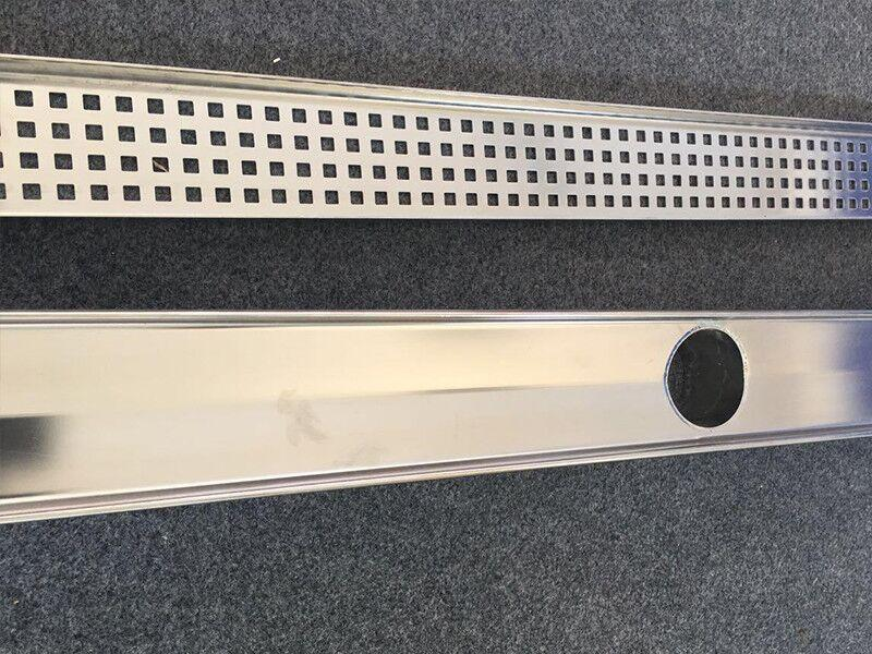 Stainless Steel Linear Drain grating with Ss Drain Channel