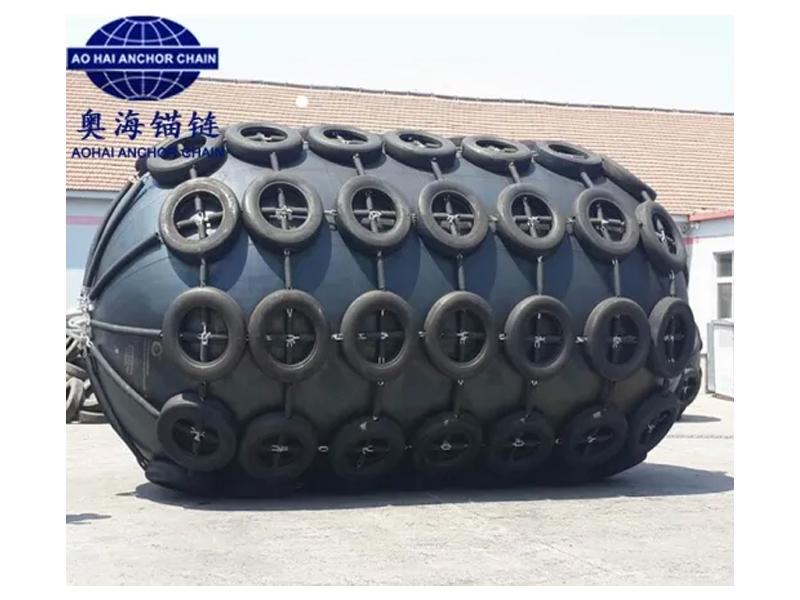 50 Kpa 80 Kpa 2.5*4.0 2500X4000mm Floating Pneumatic Marine Rubber Fender