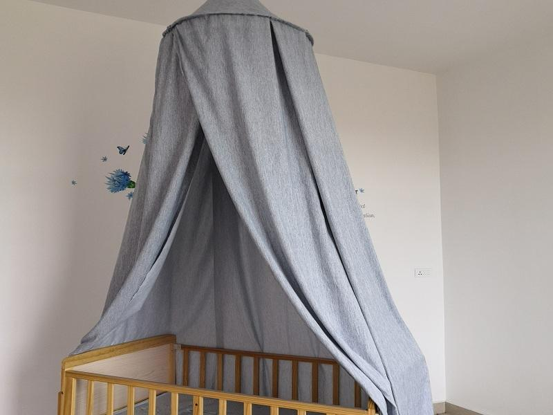 Soft Grey Color Baby Bed Canopy