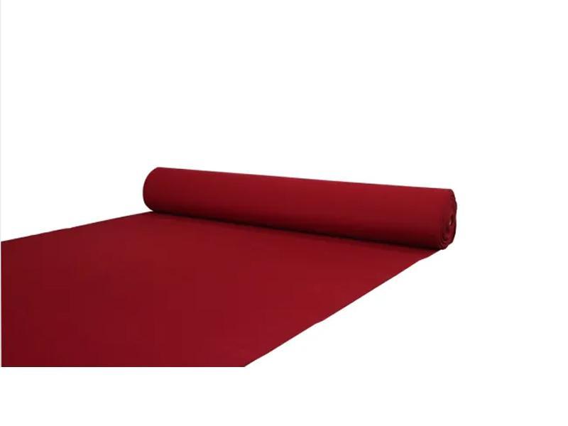 Needle Punched Plain-Surface Exhibition Carpet, Red-Color Plain Carpet