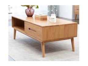 Solid Wood Tea Table Oak Coffee Table Small Family Tea Table Simple Nordic Style Living Room Furnitu