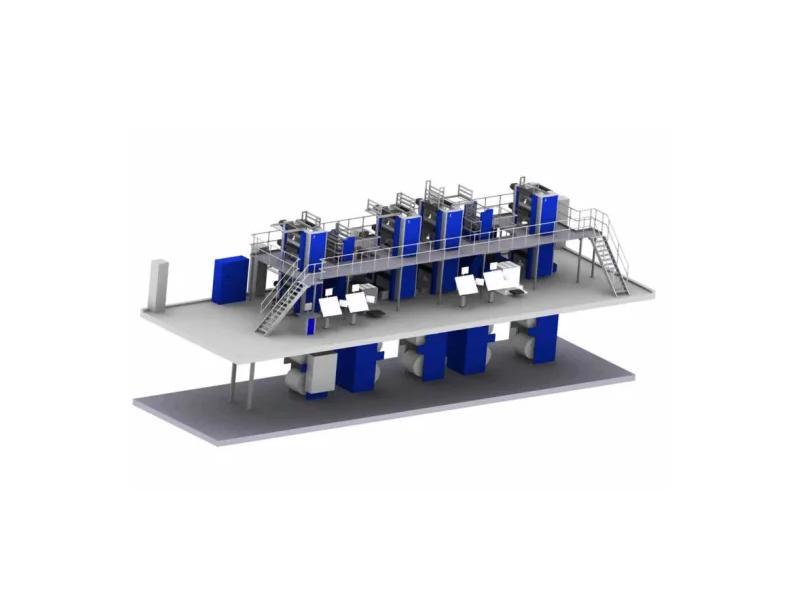 Solna D390b-F400b Book Web Printing Press with Cutoff 578mm