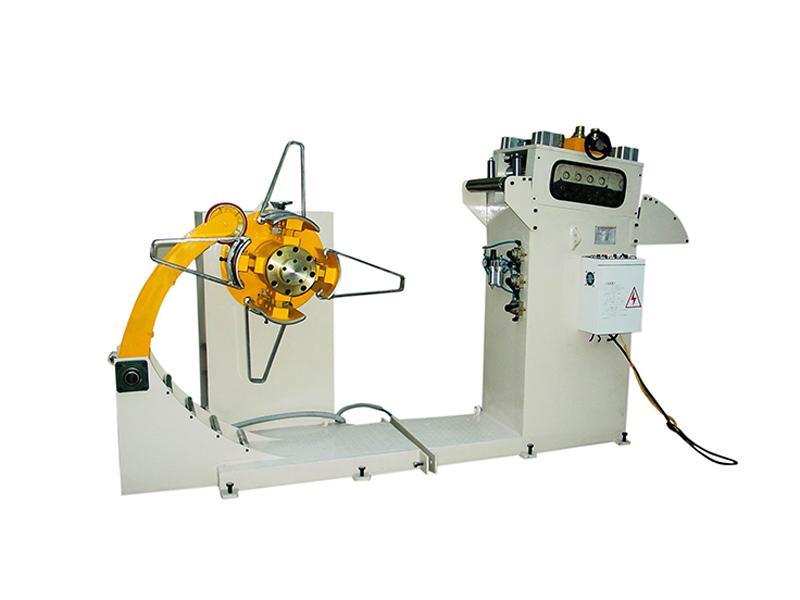 Steel Uncoiler Sheet Metal Straightening Machine 2 in 1