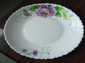 7.5 Inch Dinner Plate  Opal Glassware