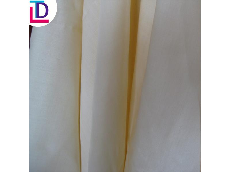 Polyester Plain Off White Fabric
