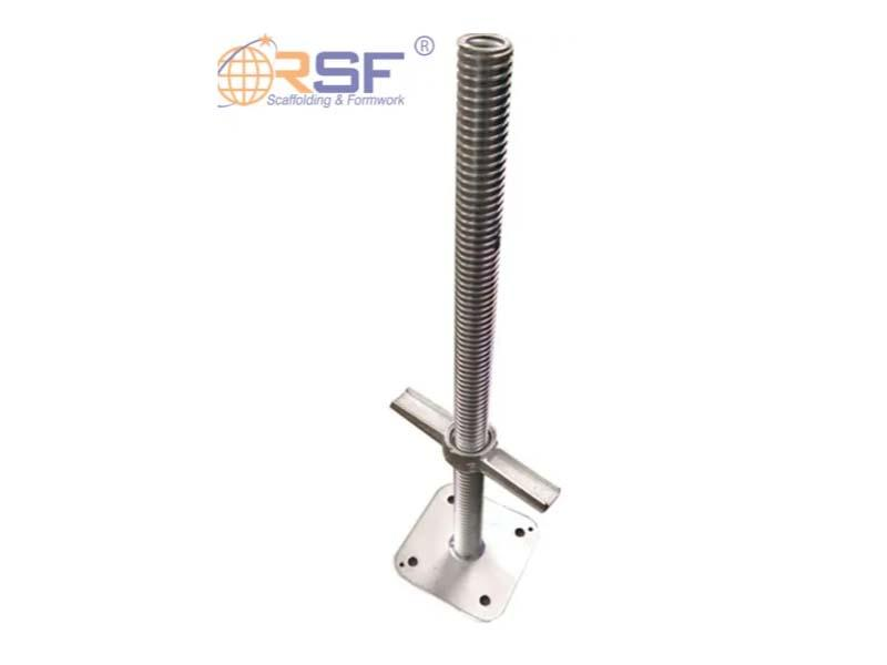 Galvanized Solid Steel Scaffold Base Jack for Building