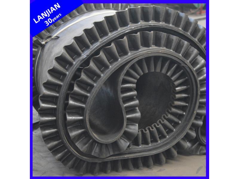 Large Capacity Flexible Cleated Skirt Ep Corrugated Sidewall Rubber Belting Conveyor Belt