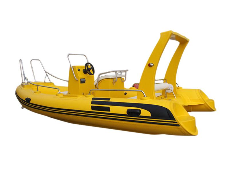Funsor Deep-V Fiberglass Hull FRP Rigid Inflatable Boat for Fishing and Rescue