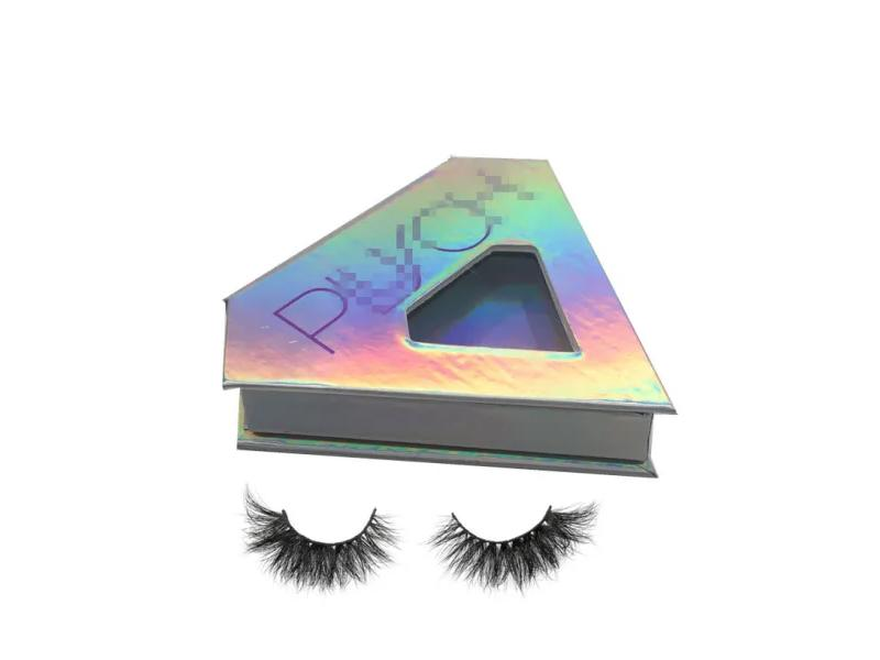Holographic Diamond Packaging Boxes for Cruelty Free Mink Lashes