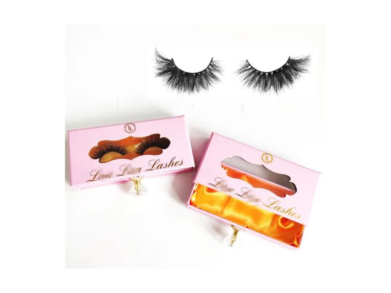 New Style Popular Lash Packaging Pink Drawer Lash Boxes Custom Box