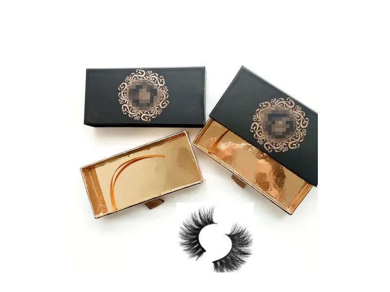 Mink Eye Lashes Packed with Drawer Pull Put Luxury Label Lash Box