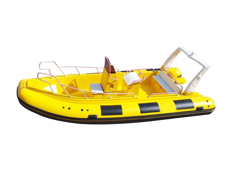 Outboard Motor Hypalon or PVC Material Rigid Inflatable Fishing Boat