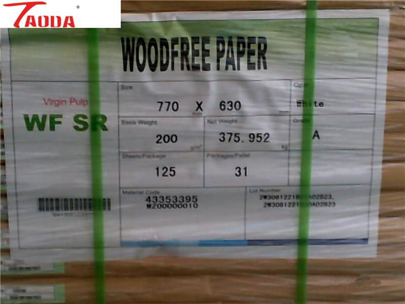 High Quality Uncoated Offset  Paper,Bond Paper , Woodfree Paper
