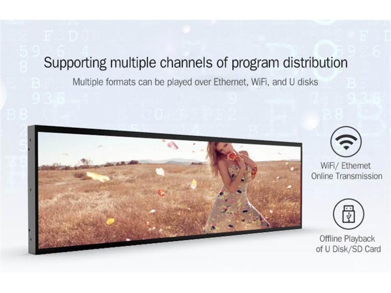LCD Long Display 4k Commercial Buildings Digital Signagerestaurant Mall Digital Signage