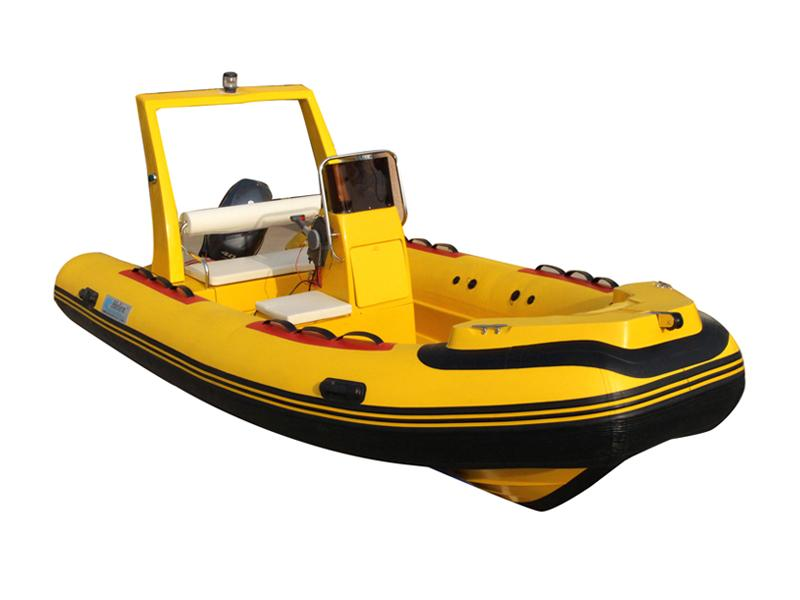 Entertainment FRP River Rescue Boat Rigid Inflatable Boat
