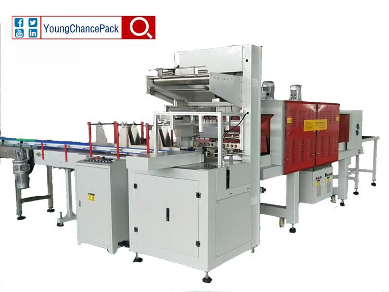 LC-MB6535 Shrink Film Wrapping Machine From YoungChancePack for Bottle Water Beverage Juice Dairy Mi