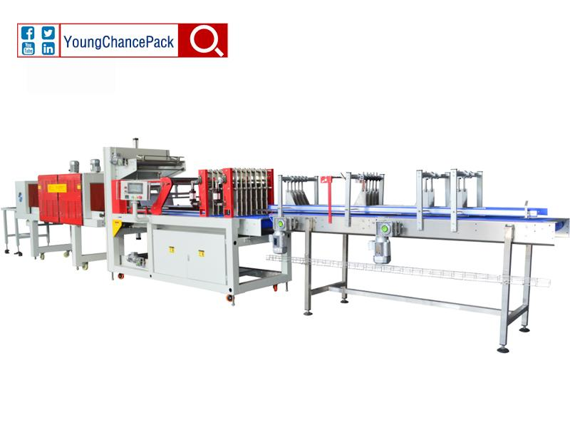 LC-MBS25 Shrink Film Wrapping Machine From YoungChancePack for Bottle Water Beverage Juice Dairy Mi